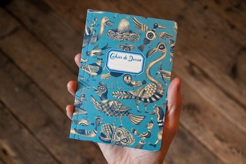 Sketchbook – Birds Blue (Small)