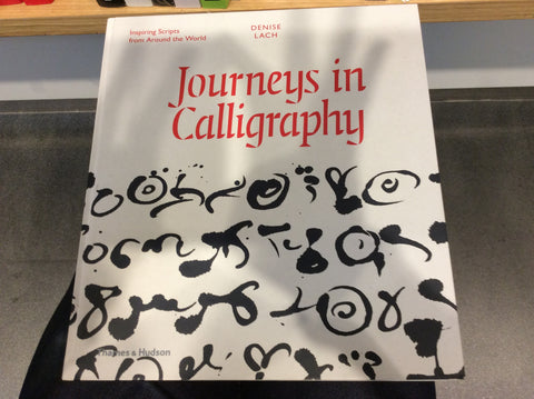 9780500518199 Journeys in Calligraphy (Thames&Husdon)