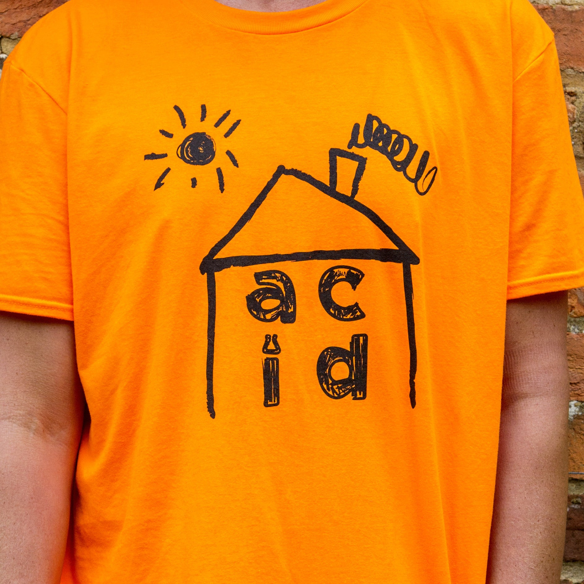 Acid House_tee Neon Orange [IN+OUT]