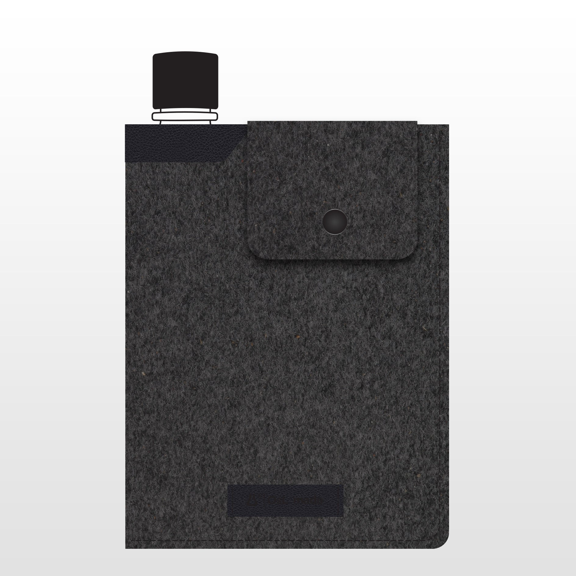 OsL_made | memobottle + Felt/Leather Case