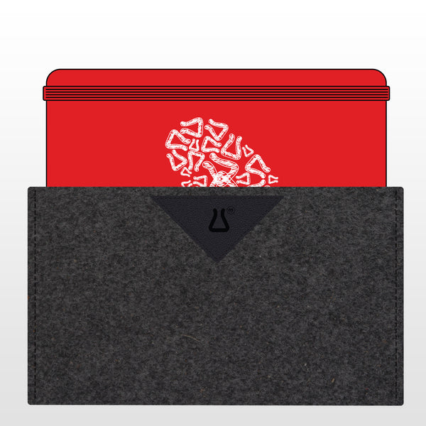 OsL_made | HoF Red Moleskine + Felt/Leather Sleeve (COMBO)
