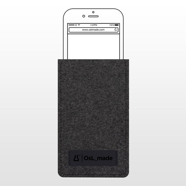OsL_made | iPhone 7 (with Apple bumper) Felt/Leather Sleeve