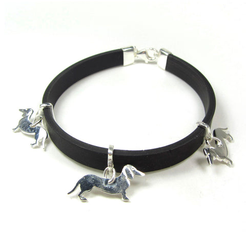 Bracelet with dachshund charms