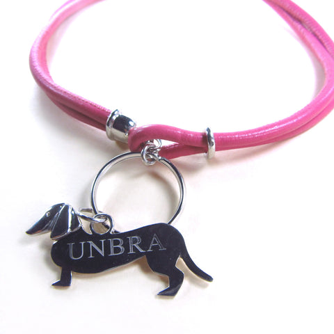 Collar with personalised dachshund tag