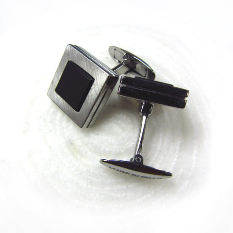 Cuff links with onyx