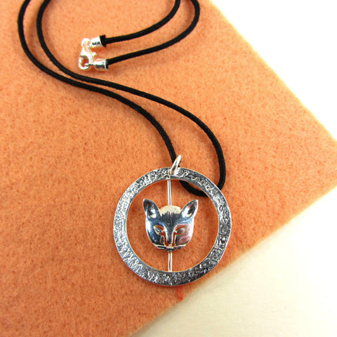 Necklace with cat charm