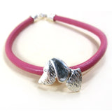 Wire-haired dachshund bracelet