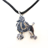Necklace with poodle charm