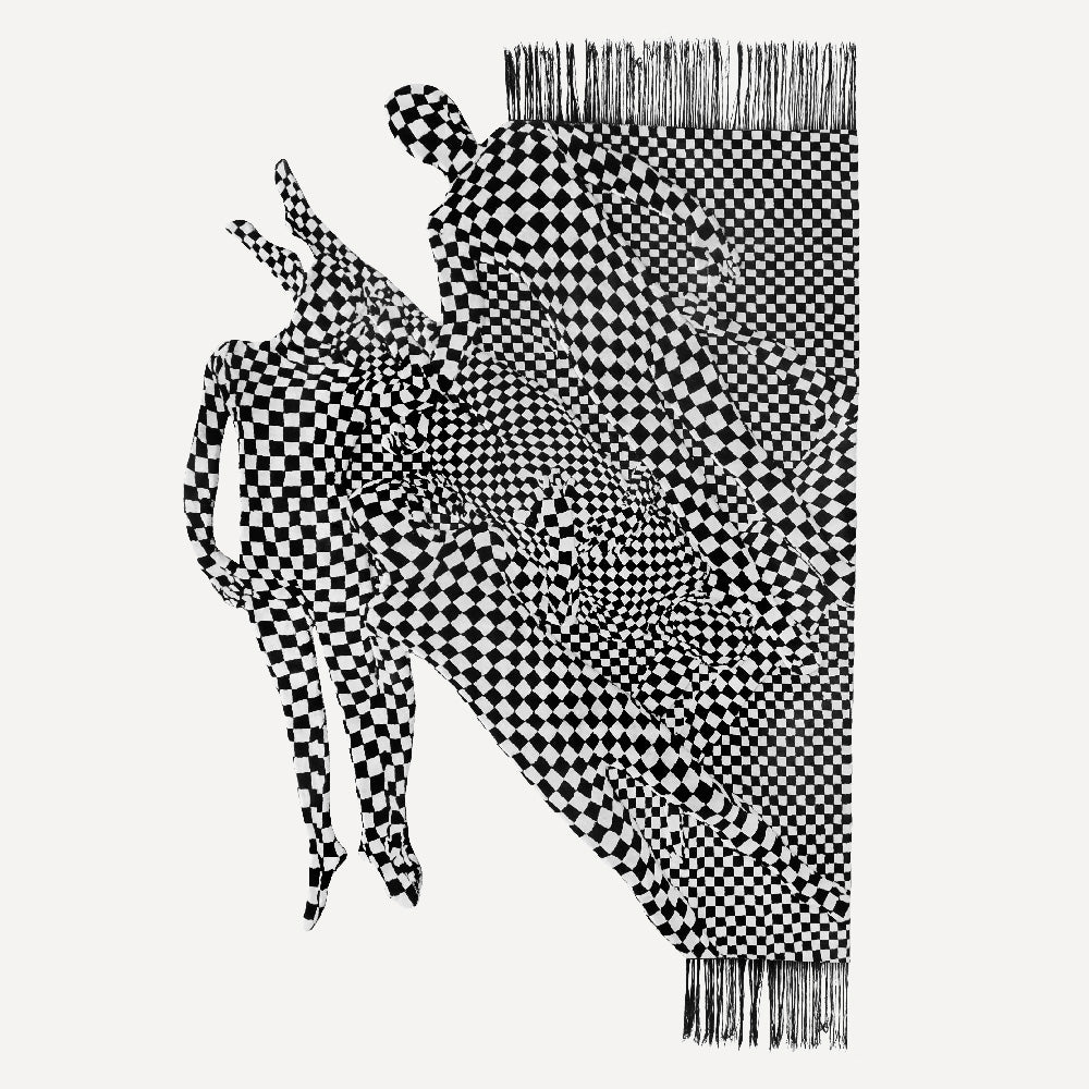 Olaf Breuning Black And White People Pattern 2017 Frozen Palms