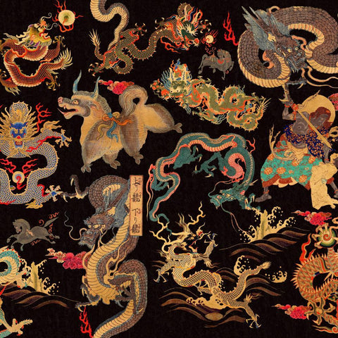 Dragons of Tibet Wallpaper - Compendium Collection by MINDTHEGAP | Do Shop