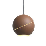 Sliced Sphere Suspension Light - Brick Brown