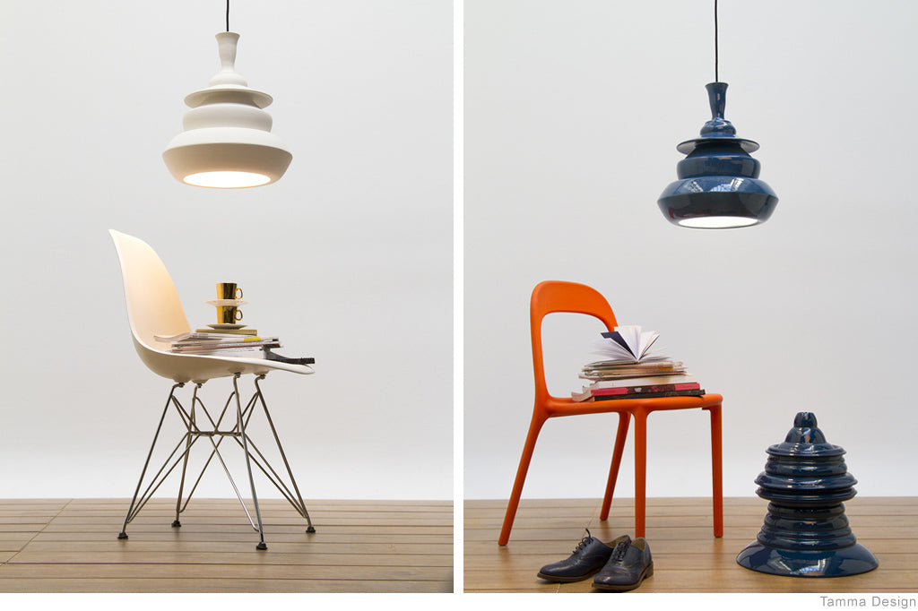 Solid Spin Lamps by Tamma Design