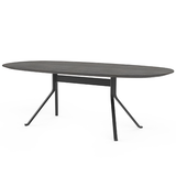 Blink Oval Dining Table - Wood Top