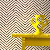Scrapwood On Teak Chevron Wallpaper by Piet Hein Eek