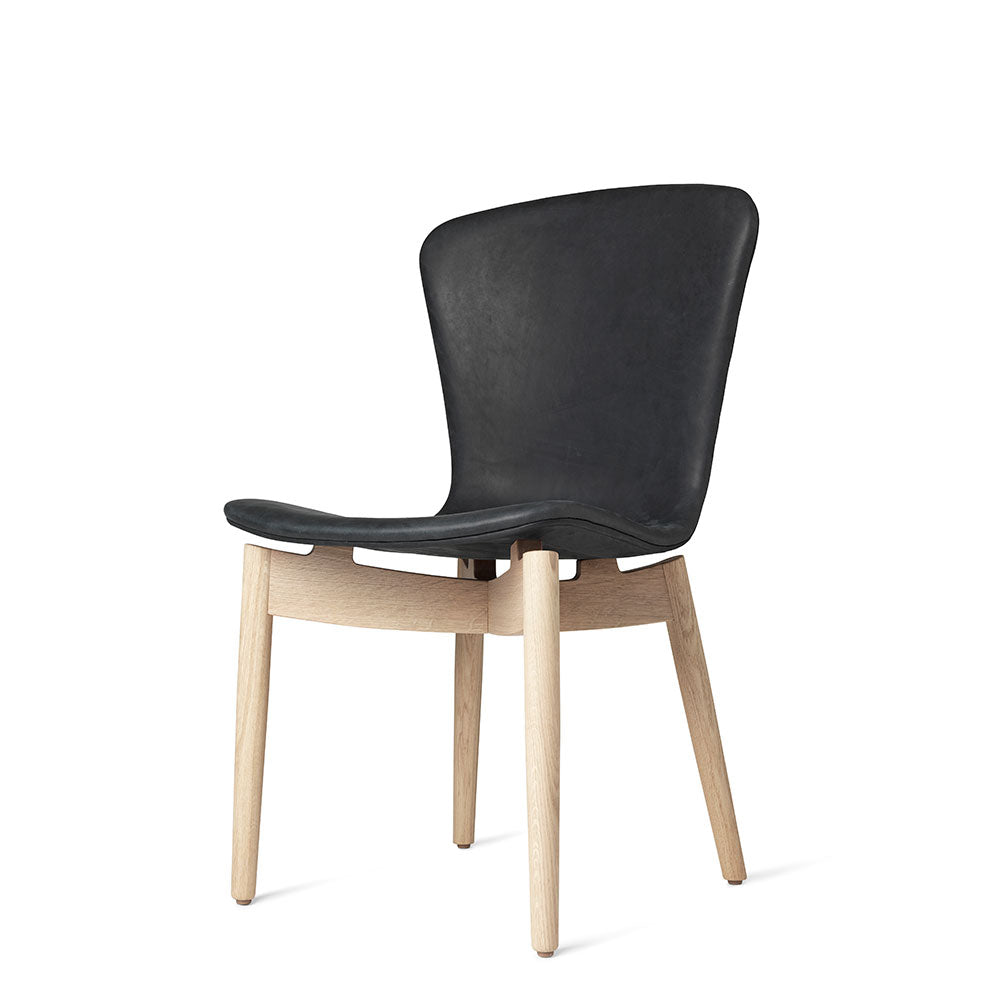 Shell Dining Chair - Dunes Anthrazit Black Leather - Mater - Do