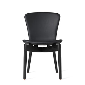Shell Dining Chair - Ultra Black Leather - Mater - Do