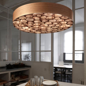 Spiro Large Suspension - Wood Outer Shell - LZF - Do Shop
