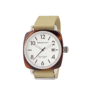 Clubmaster HMS Tortoise Shell White Dial - Briston - Do Shop