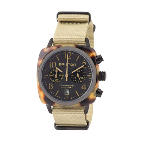 Clubmaster Chrono Tortoise Shell Matt - Briston - Do Shop