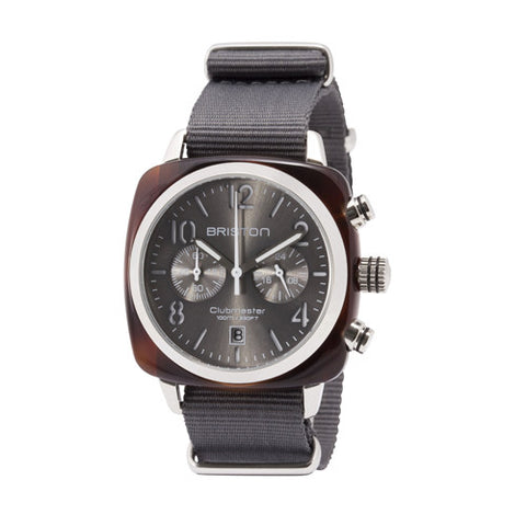 Clubmaster Chrono tortoise shell – Grey sunray dial - Briston - Do Shop