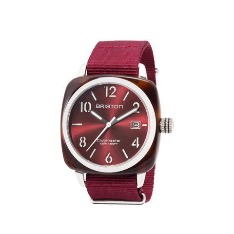 Clubmaster HMS Tortoise Shell Red Dial - Briston - Do Shop