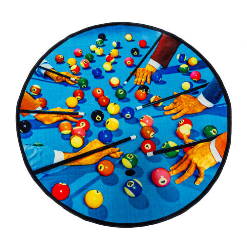 Snooker - Round Rug - Seletti Wears Toiletpaper - Do Shop