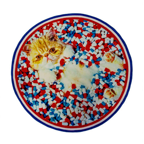 Cat - Round Rug - Seletti Wears Toiletpaper - Do Shop