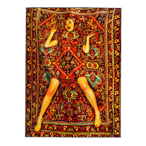 Lady On Carpet - Rectangular Rug - Seletti Wears Toiletpaper - Do Shop