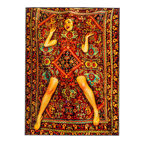 Lady On A Carpet - Rectangular Rug - Seletti Wears Toiletpaper - Do Shop