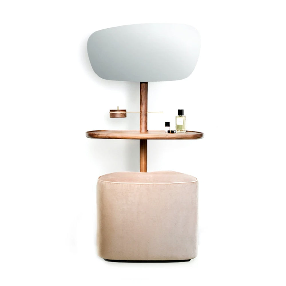 Vanity Table and Pouf - Tocador