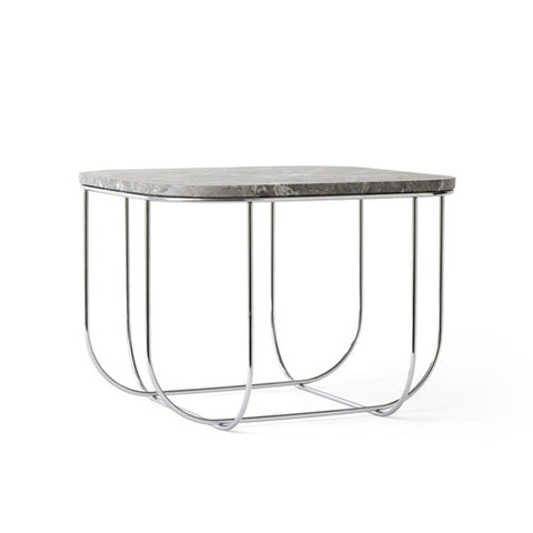 FUWL Cage Table - Chrome/Grey Marble - Menu - Do Shop