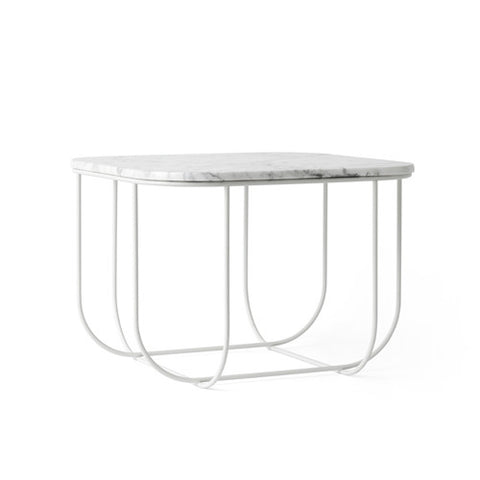 FUWL Cage Table - White/White Marble - Menu - Do Shop