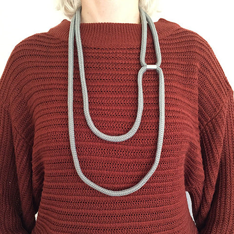 Double Loop Necklace Grey - Eleanor Bolton - Do Shop