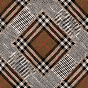 Checkered Patchwork Mid Brown Collectables Wallpaper - MINDTHEGAP - Do Shop