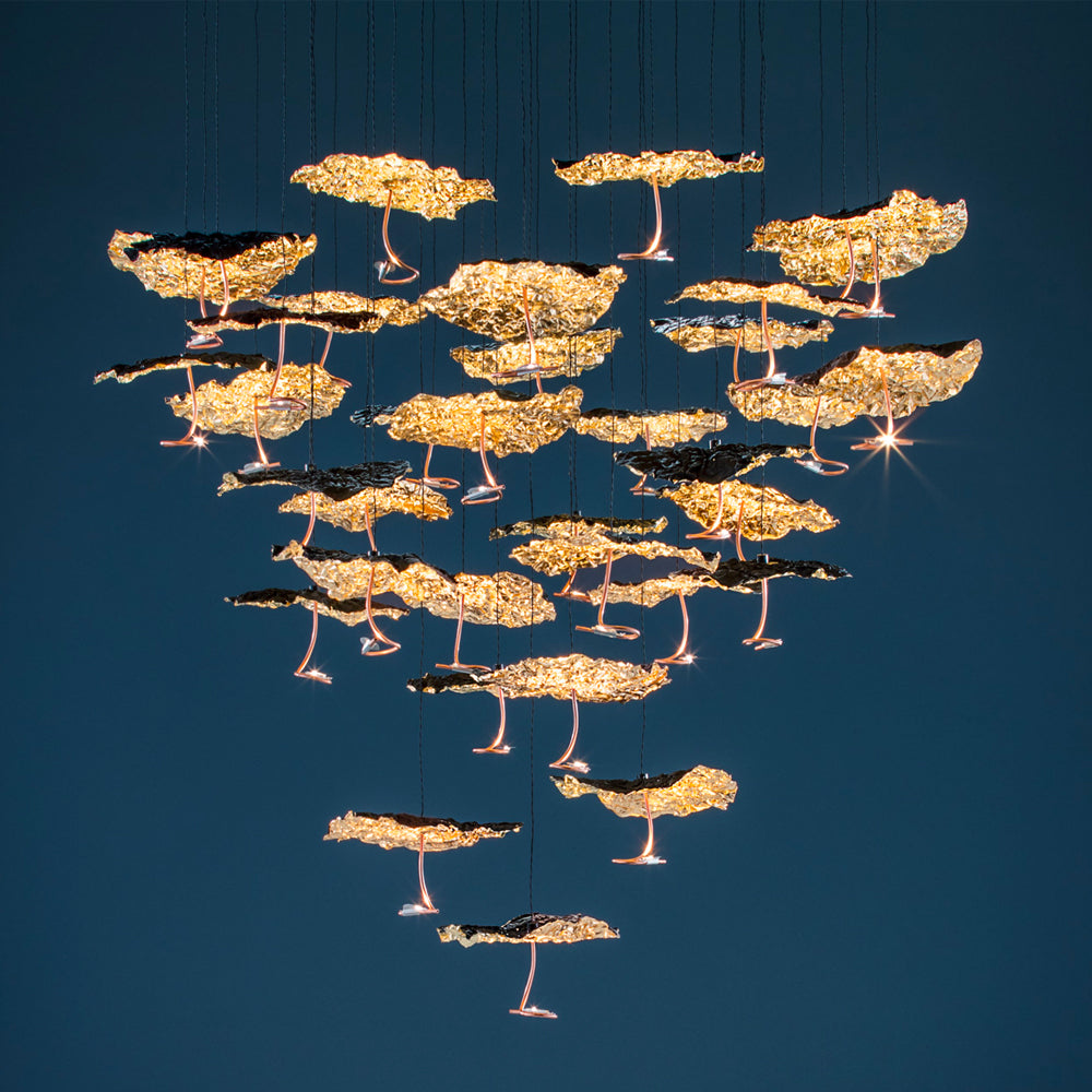 Luci d'Oro Gold Moon Chandelier by Catellani & Smith | Do Shop