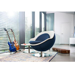 Classic Blue Ball Lounge Chair