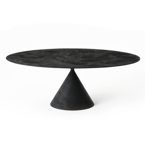 Clay Table Oval - Dark Grey Lava Stone - Desalto - Do Shop