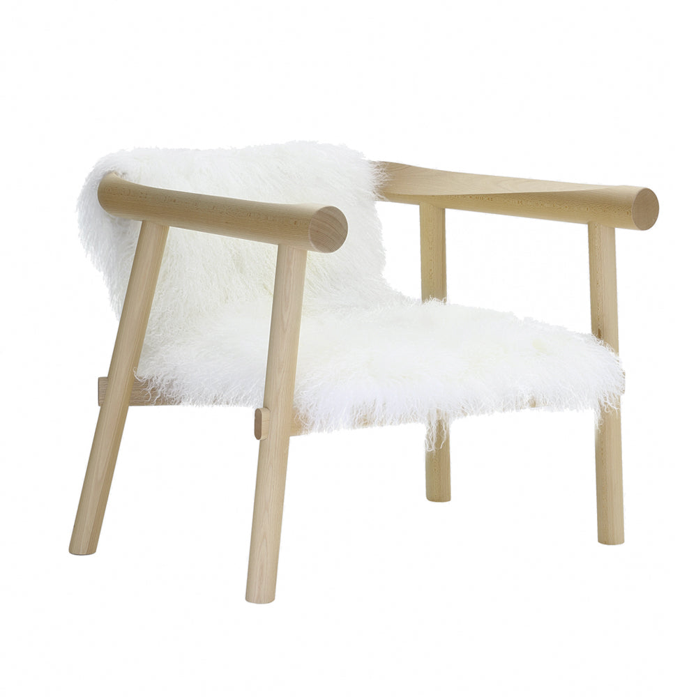 Altay Armchair in White Goatskin by Coedition | Do Shop