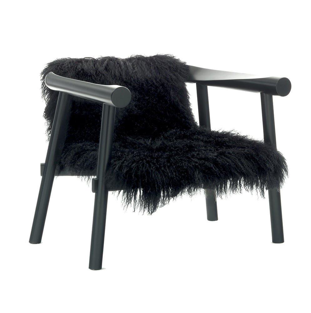 Altay Armchair in Black Goatskin by Coedition | Do Shop