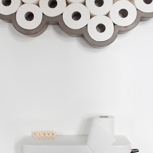 Concrete Cloud Toilet Paper Shelf - Large - Lyon Beton - Do Shop