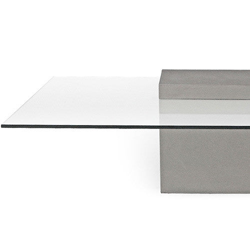 Concrete Coffee Table - Square with Glass Top - Lyon Beton - Do Shop