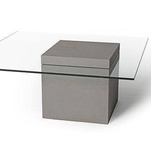 Concrete Verveine Coffee Table Square With Glass Top By Lyon Beton Do Shop