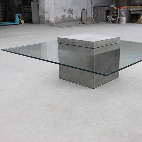 Concrete Coffee Table Square With Glass Top Do Shop - Concrete and glass coffee table
