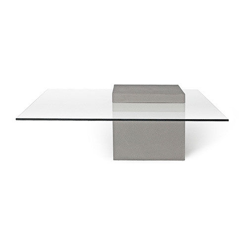Concrete Coffee Table Square With Glass Top