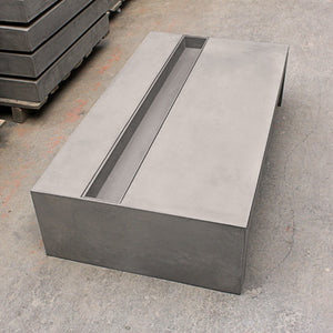 Concrete Coffee table with Tempered Glass - Rectangular - Lyon Beton - Do Shop