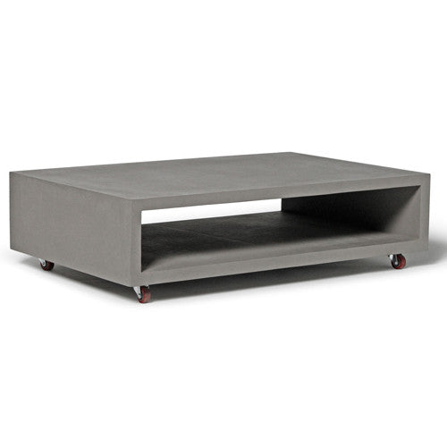 Concrete Monobloc Coffee Table With Wheels - Lyon Beton - Do Shop