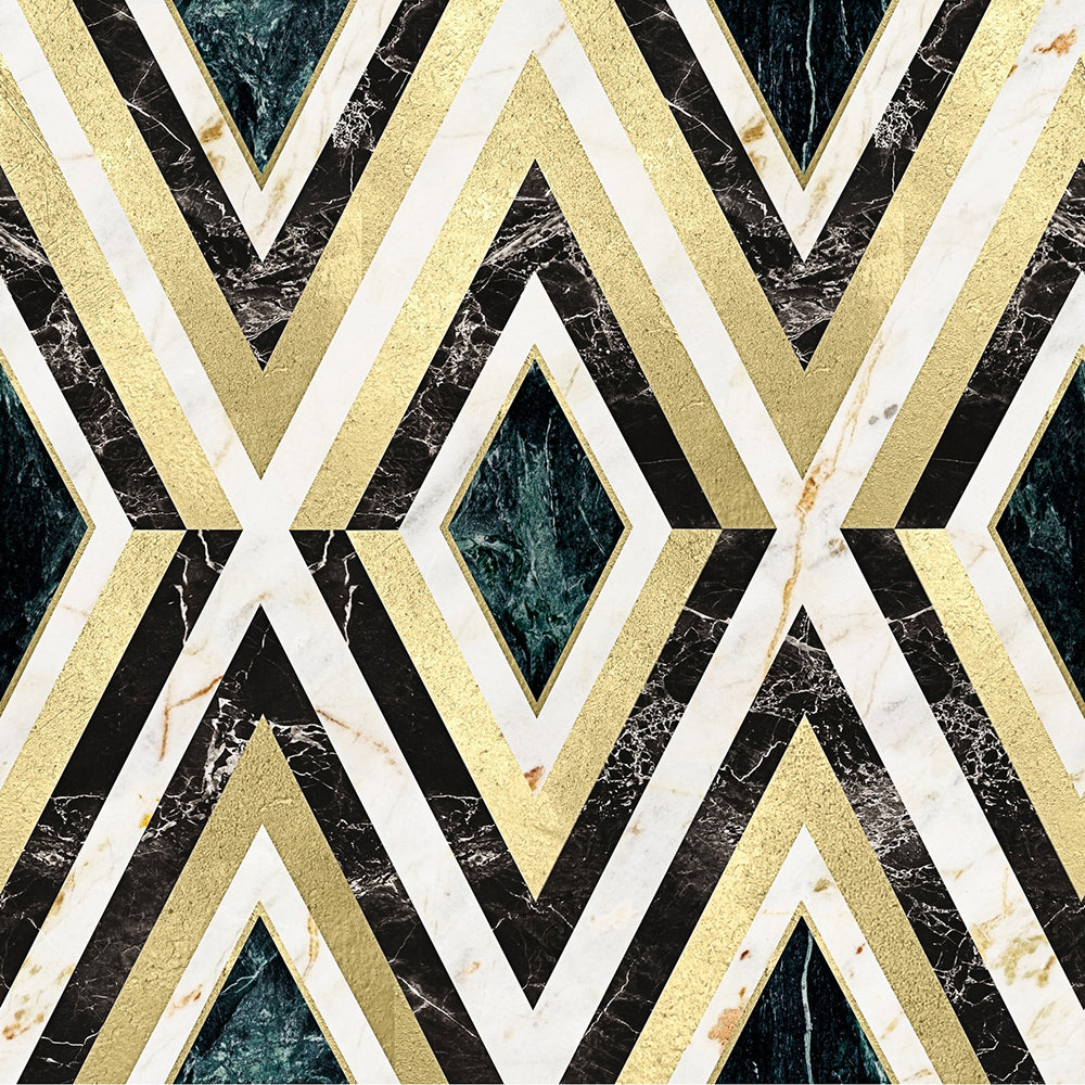 Diamonds In Brass Manhattan Wallpaper - MINDTHEGAP - Do Shop