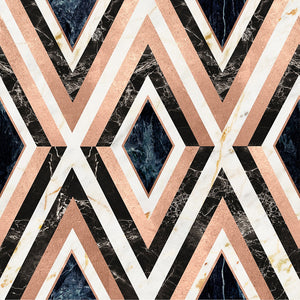 Diamonds In Copper Manhattan Wallpaper - MINDTHEGAP - Do Shop