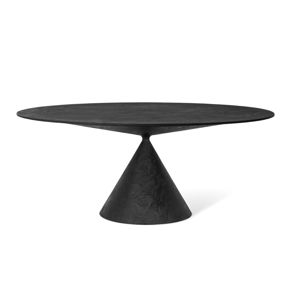 Clay Table Round - Dark Grey Lava Stone by Desalto | Do Shop