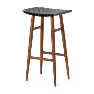 Freja Bar Stool SH750 Leather Stripe Seat - Stellar Works - Do Shop